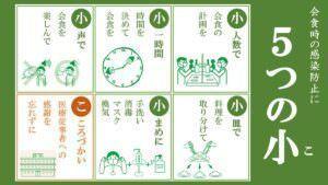 会食時の感染防止について